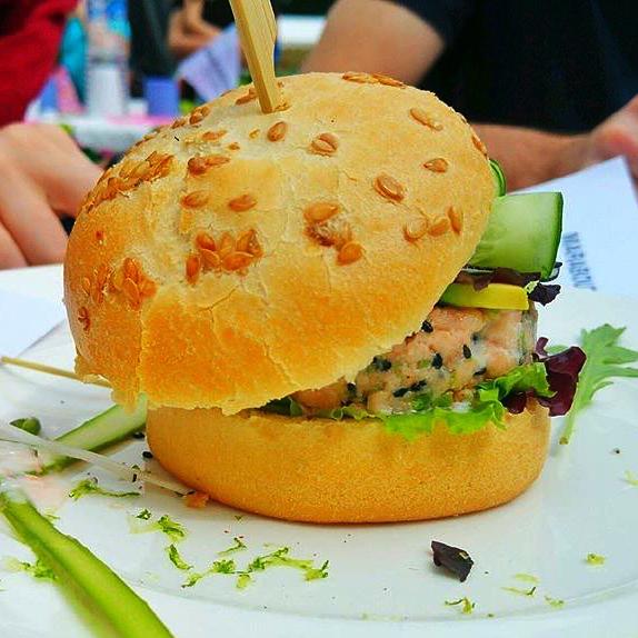 Burger saumon healthy Nonna Lucia